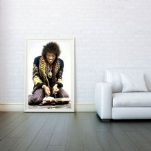 Jimi Hendrix, Decorative Arts, Prints & Posters, Wall Art Print, Poster Any Size - Black and White Poster